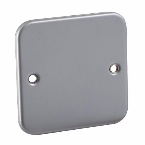 KnightsBridge 1G Metal Clad Industrial Blank Blanking Plate KnightsBridge Metal Clad 1G Industrial Blanking Plate - Click to view a larger image