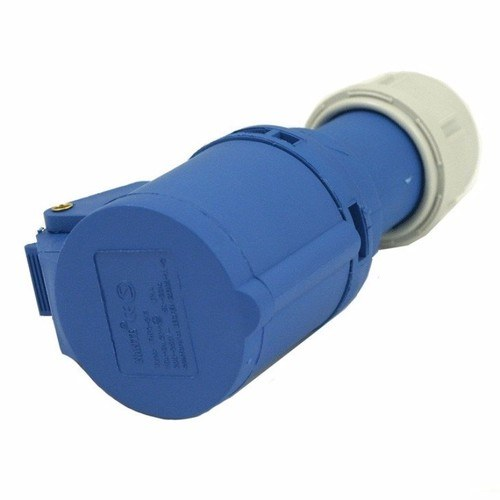 Europa 16A 230V IP44 Fast Fit Industrial 3 Pin In-Line Caravan Female Socket Europa Components 16A 230V IP44 Industrial 3 Pin 2P+E In-Line Caravan CEE Socket - Click to view a larger image