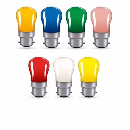Crompton 15W Sign Display Bayonet Cap BC Pygmy Bulb Crompton Colourglazed BC-B22d Sign Lamp Bulb Yellow - Click to view a larger image
