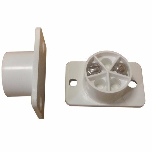 Knight Grade 1 2 Terminal White Flush Fit Door Intruder Alarm Contact A10 2 Terminal Recessed Door Contact in White