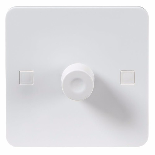 KnightsBridge Pure 4mm 40-400W White 1G 2 Way 230V Electric Dimmer Switch KnightsBridge Pure PS2161 4mm Single Dimmer Switch - Click to view a larger image