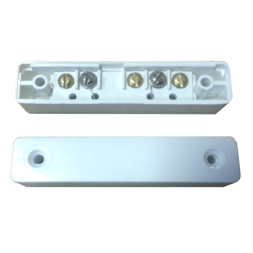 Knight Grade 1 5 Terminal White Surface Door Window Alarm Contact Knight D20 Grade 1 Single Reed 5 Terminal Door Window Alarm Contact - Click to view a larger image