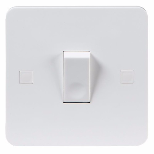 KnightsBridge Pure 9mm 10A White 1G 230V Electric Wall Plate Intermediate Switch KnightsBridge PU1200 1 Gang Intermediate Switch - Click to view a larger image