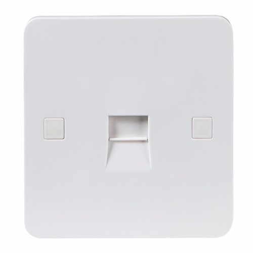 KnightsBridge Pure 9mm 1G White Telephone Master Socket Flush Wall Switch KnightsBridge PURE 9mm 1G Telephone Network Master Socket - Click to view a larger image