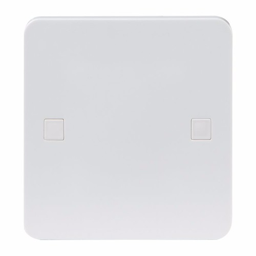 KnightsBridge Pure 9mm 20A White Flex Outlet Single Frontplate Electric Wall Plate 20A flex outlet plate - 9mm (centre of base flex exit) - Click to view a larger image