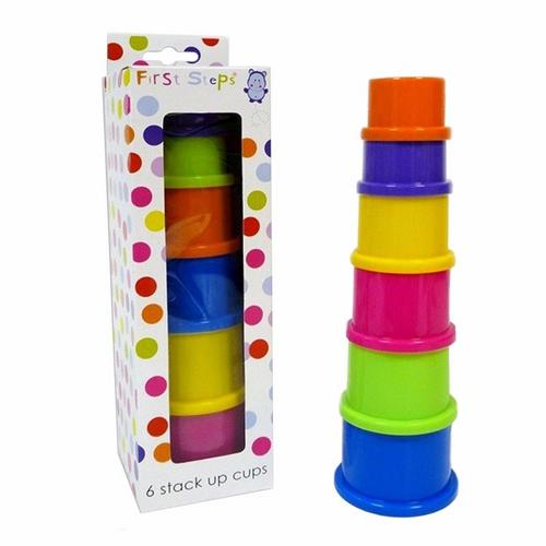 Compare prices for First Steps 6pc Colored Stacking Cups For Imaginative Play