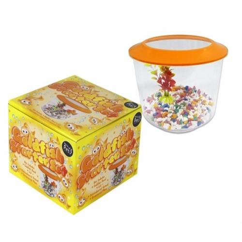 Zexum Aquarium 2 Litre Goldfish Pet Bowl Complete Starter Kit