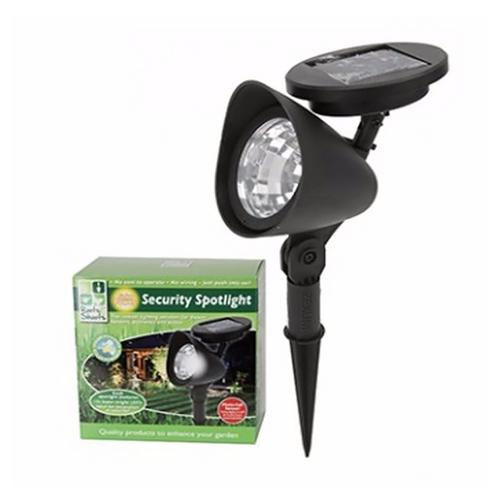 Zexum 3 LED Solar Powered Wireless Garden Pathway Security Spot Light  - Click to view a larger image