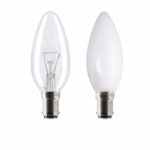 Status 60W SBC B15d Incandescent Candle Light Bulb  - Click to view a larger image