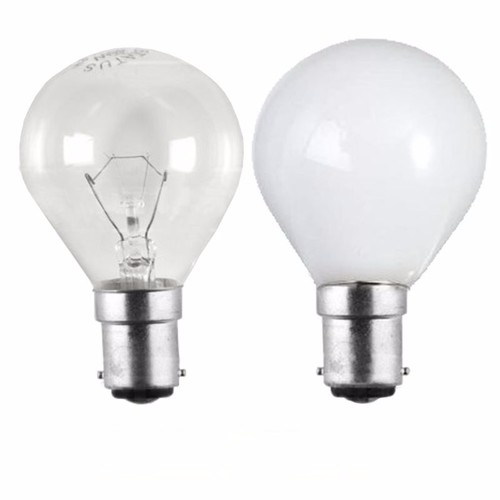 Status 25W SBC B15d Incandescent Round Golf Ball Light Bulb  - Click to view a larger image
