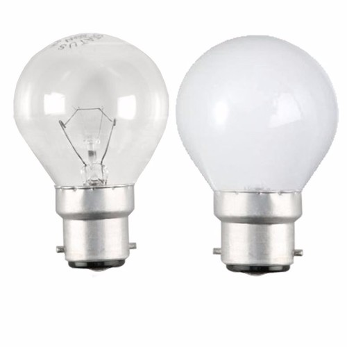 Status 40W BC B22d Incandescent Round Golf Ball Light Bulb  - Click to view a larger image