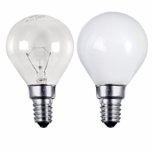 Status 40W SES E14 Incandescent Round Golf Ball Light Bulb  - Click to view a larger image