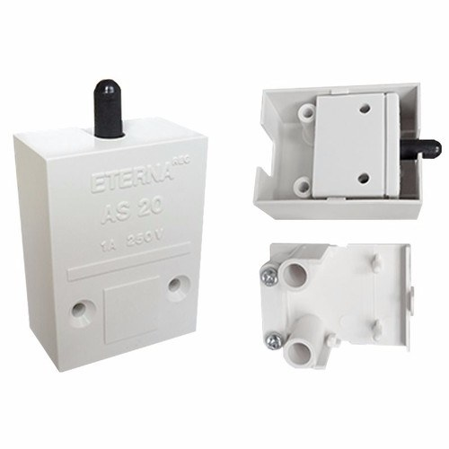 Eterna 1A Push To Break Contact Autoswitch for Cuboard Cainet Lighting Eterna XS63W 1A Push To Break Contact Autoswitch For Cupboard Cabinet Lighting  - Click to view a larger image