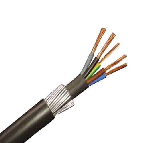 Zexum 10mm 5 Core 73A 6945X Steel Wire Armoured SWA Outdoor Mains Power Cable  - Click to view a larger image