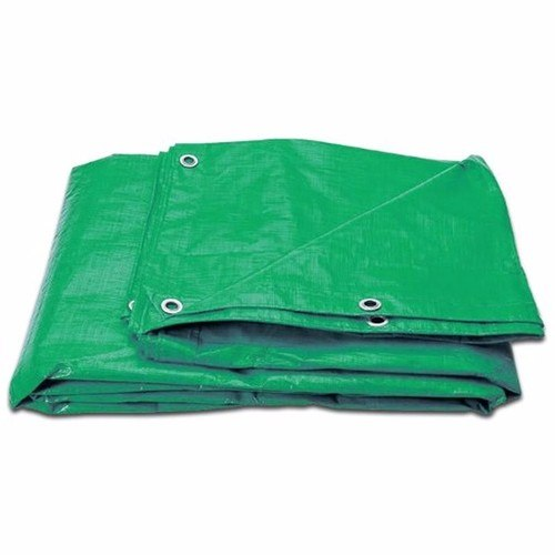 Zexum 10Ft x 8Ft Heavy Duty Green Weatherproof Tarpaulin Zexum Extra Tough Waterproof Tarpaulin 8ft x 10ft Ground Sheet  - Click to view a larger image