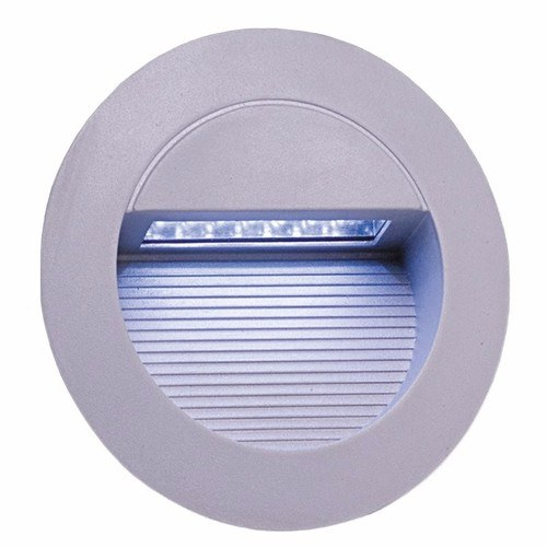 KnightsBridge IP44 Round 14 White LED Recessed Stair & Wall Guide Light KnightsBridge IP44 Round 14-LED Recessed Stair & Wall Guide Light  - Click to view a larger image