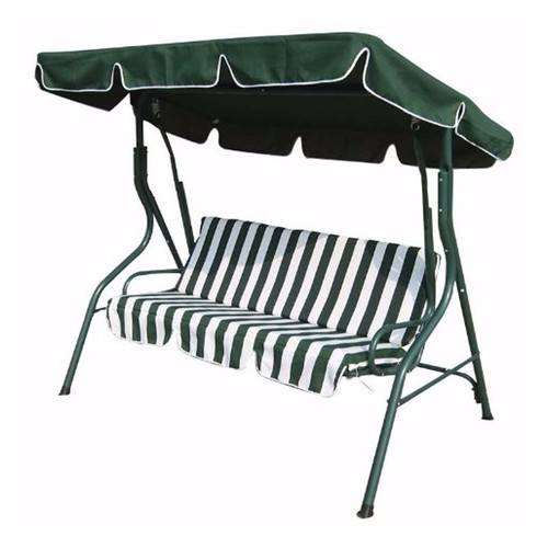 Zexum 3 Seater Green & White Swinging Outdoor Garden Hammock Bench Zexum 3 Seater Swinging Outdoor Garden Hammock Bench - Click to view a larger image