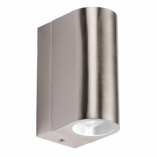 KnightsBridge 6W IP44 LED Up & Down Tubular Stainless Steel Wall Light KnightsBridge IP44 6W Stainless Steel Up & Down Led Upright Wall Light  - Click to view a larger image