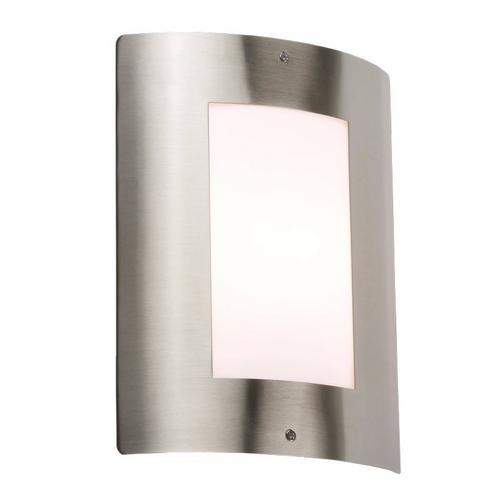 KnightsBridge 40W IP44 Edison Screw (E27) Stainless Steel Outdoor Wall Light KnightsBridge IP44 E27 40W Stainless Steel Outdoor Wall Fixture Light  - Click to view a larger image