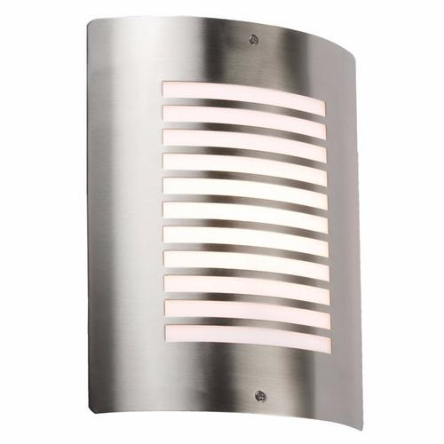 KnightsBridge IP44 E27 40W Stainless Steel Outdoor Wall Fixture Light & Design Knightsbridge NH028 - Decorative Indoor/Outdoor Wall Light Fixture - Click to view a larger image
