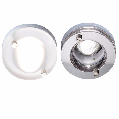 KnightsBridge IP65 GU10 Decorative Bathroom Downlight KnightsBridge IP65 15W GU10 Decorative Glass Bathroom Downlight - Frosted Glass - Click to view a larger image