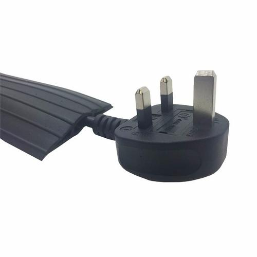 Zexum Black Rubber 80x14 Cable Tidy Floor Cover Protector Trunking  - Click to view a larger image