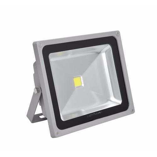 Lighthouse IP65 Ultra Efficient LED Grey Aluminium Floodlight Lighthouse IP65 Ultra Efficient Grade 1 35 MIL LED Chip Aluminium Floodlights Grey - 30/50W - Click to view a larger image