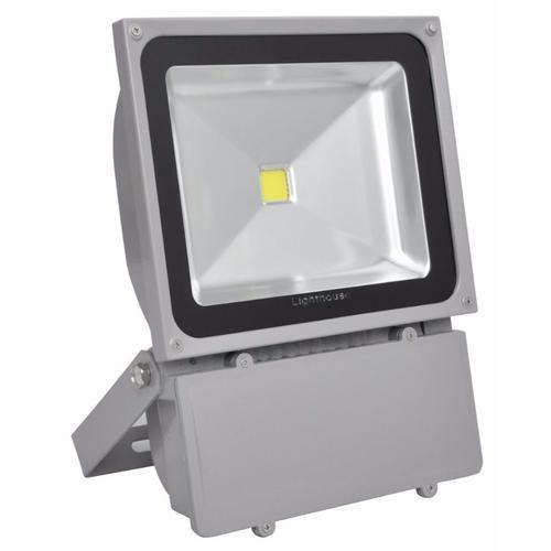 50w Led Flood With Photocell: Lighthouse IP65 Ultra Efficient LED Grey Aluminium