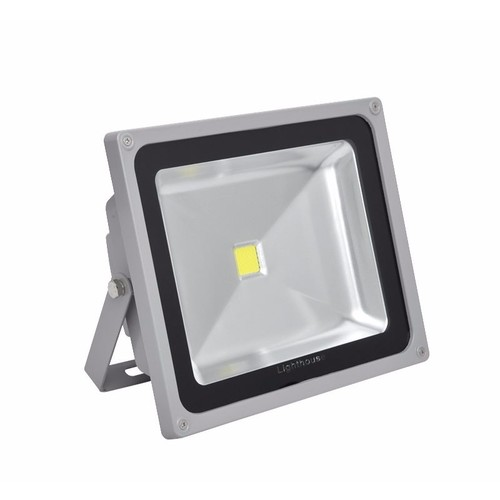Lighthouse IP65 Ultra Efficient LED Grey Aluminium Photocell Floodlight  Lighthouse IP65 Ultra Efficient Grade 1 35 MIL LED Chip Floodlights With Photocell Sensor Grey - 30/50W - Click to view a larger image