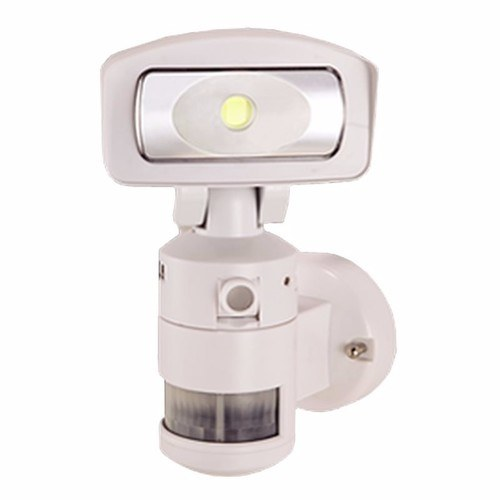 NightWatcher LED Robotic Security Light with HD Camera - White Night Watcher Robotic PIR LED Security Light & HD Video Camera Recorder White  - Click to view a larger image