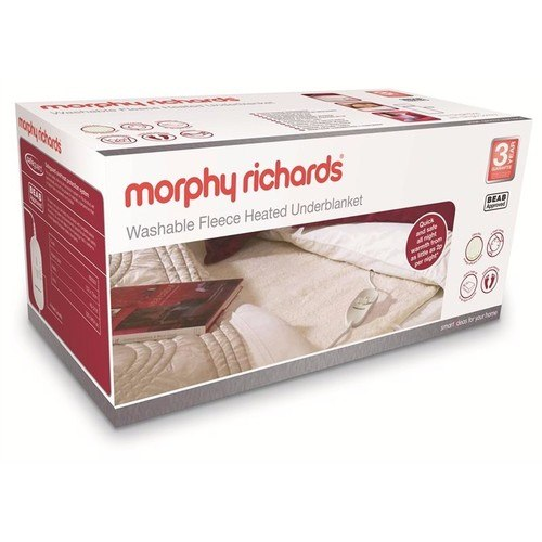 Morphy Richards Single Fleece Heated Electric Blanket  - Click to view a larger image