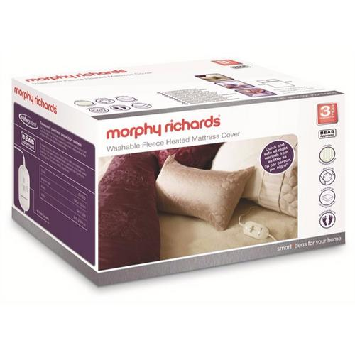 Morphy Richards King Fleece Dual Control Heated Mattress Cover Morphy Richards 620003 King Size Fleece Washable Heated Mattress Cover  - Click to view a larger image