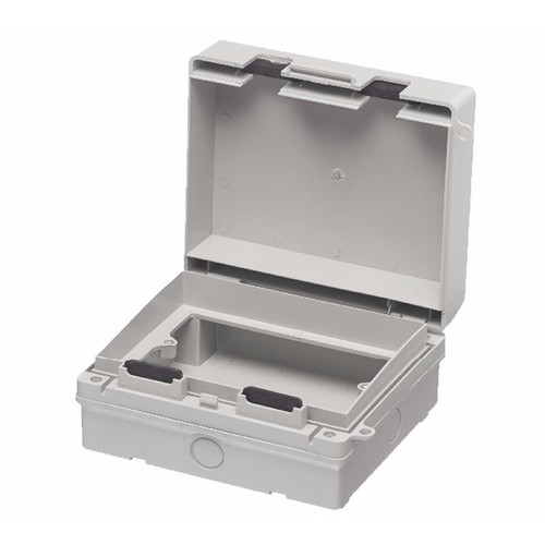 Europa IP65 2 Gang Weatherproof Outdoor Socket & Switch Accessory Box Europa Components IP65 2 Gang Weatherproof Outdoor Socket Accessory Box  - Click to view a larger image