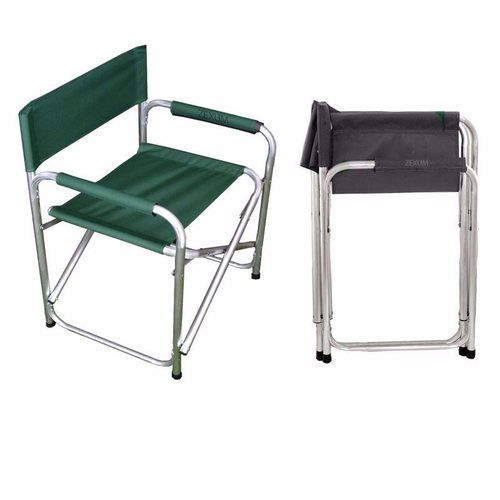 Zexum Folding Directors Canvas Garden Chair Zexum Folding Canvas Aluminium Director's Garden Chair - Green - Click to view a larger image