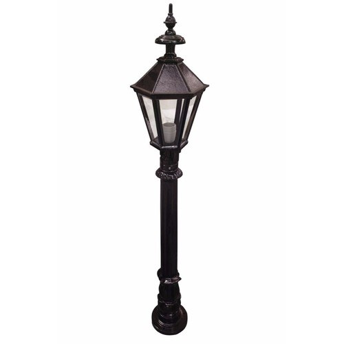 Zexum 4Ft Traditional Black Garden Street Light  Zexum 4Ft IP44 Traditional Black Painted Steel Lamp Post Garden Street Light  - Click to view a larger image