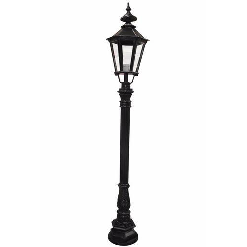Zexum Black Traditional Driveway Pillar Lamp: Zexum 6Ft Traditional Black Garden Street Light
