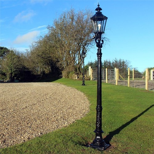Zexum 9Ft Traditional Black Garden Street Light  - Click to view a larger image