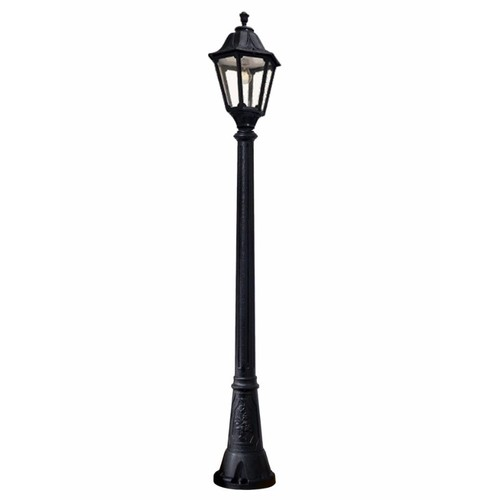 Fumagalli Noemi Traditional Black Garden Lantern On Gigi Lamp Post  - Click to view a larger image