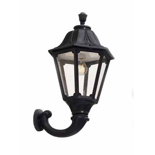 Fumagalli Black Noemi Traditional Garden Lantern w/  Wall Arm Black Noemi Traditional Garden Lantern On Matching Wall Arm - Click to view a larger image