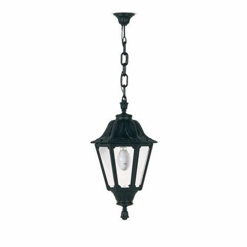 Fumagalli Black Noemi Traditional Garden Lantern W/ Chain