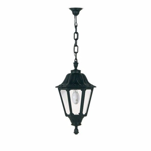 Fumagalli Black Noemi Traditional Garden Lantern w/ Chain Fumagalli Black Noemi Traditional Garden Lantern On Matching Ceiling Chain - Click to view a larger image
