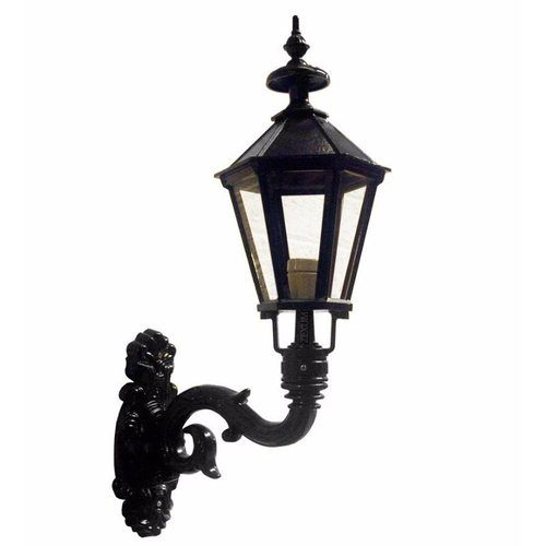 Zexum Black Traditional Wall Mounted Lamp Zexum IP44 Traditional Black Painted Steel Wall Mounted Garden Lamp Light  - Click to view a larger image
