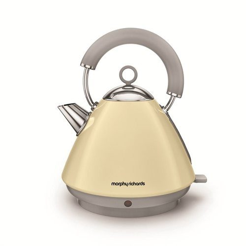 Morphy Richards Accents Pyramid Kettle - Cream Morphy Richards Accents 1.5 litre Traditional 3 kW Pyramid Kettle Matte Cream  - Click to view a larger image