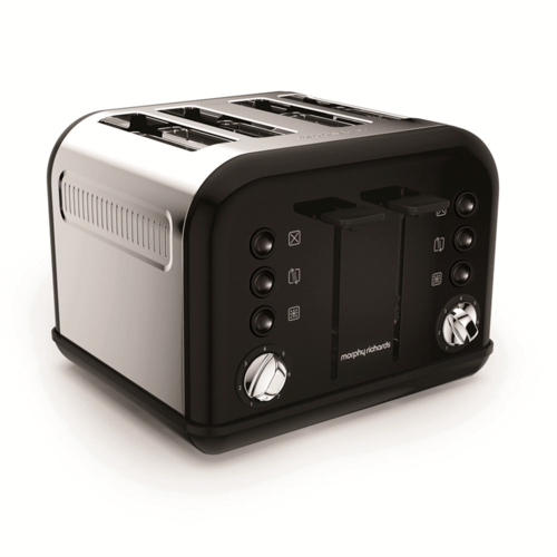 Morphy Richards Accents 4 Slice Toaster - Metallic Black  - Click to view a larger image