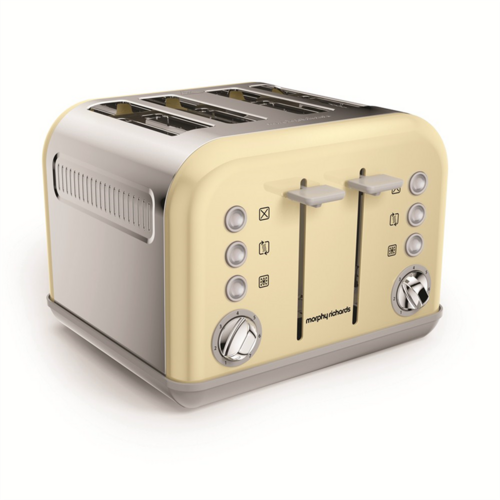 Morphy Richards Accents 4 Slice Toaster - Cream Morphy Richards Accents 4 Slice Matte Cream Bread & Sandwich Toaster Oven  - Click to view a larger image