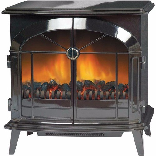 Dimplex StockBridge 2kW Optiflame Electric Stove - Black Dimplex 2kW Free Standing Electric Stove Fire With Optiflame - Click to view a larger image