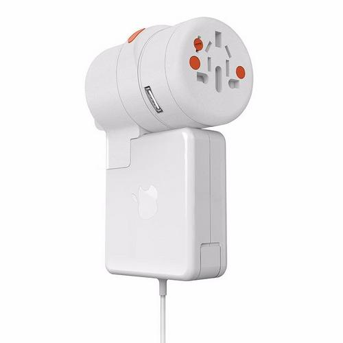 Oneadaptr TWIST PLUS+ World Adapter & 1x USB & Macbook Charge Adaptor  - Click to view a larger image