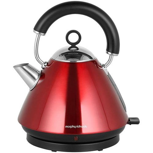 Morphy Richards Accents Pyramid Kettle  Metallic Red