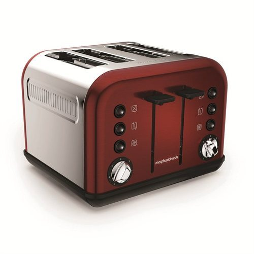 Morphy Richards Accents 4 Slice Toaster - Metallic Red  - Click to view a larger image