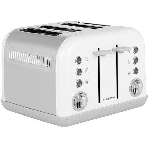 Morphy Richards Accents 4 Slice Toaster - White  - Click to view a larger image